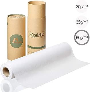 Amazy Fieltro para manualidades (blanco | 60 g / m2) – Rollo de fieltro adhesivo ideal para reforzar ropa, mantas y bolsas, para aplicaciones y para patchwork (9 x 0,4 m)