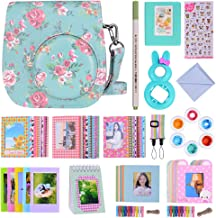 Bsuuy 16 in 1 Instax Mini 9 Camera Accessories Set for Fujifilm Instax Mini 9/ Mini 8/ Mini 8+ Camera, Includes Mini 9 Case,Albums,Six Color Filters,Rainbow Shoulder Strap ETC (Peony)