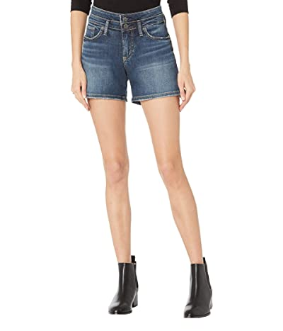 Silver Jeans Co. Suki Mid-Rise Curvy Fit Shorts with Double Waist Band L53951EGX338 Women