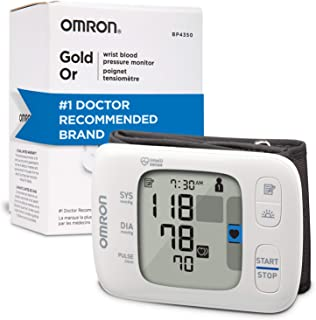 Omron Gold Blood Pressure Monitor, Portable Wireless Wrist Monitor, Digital Bluetooth Blood Pressure Machine, Stores Up to...