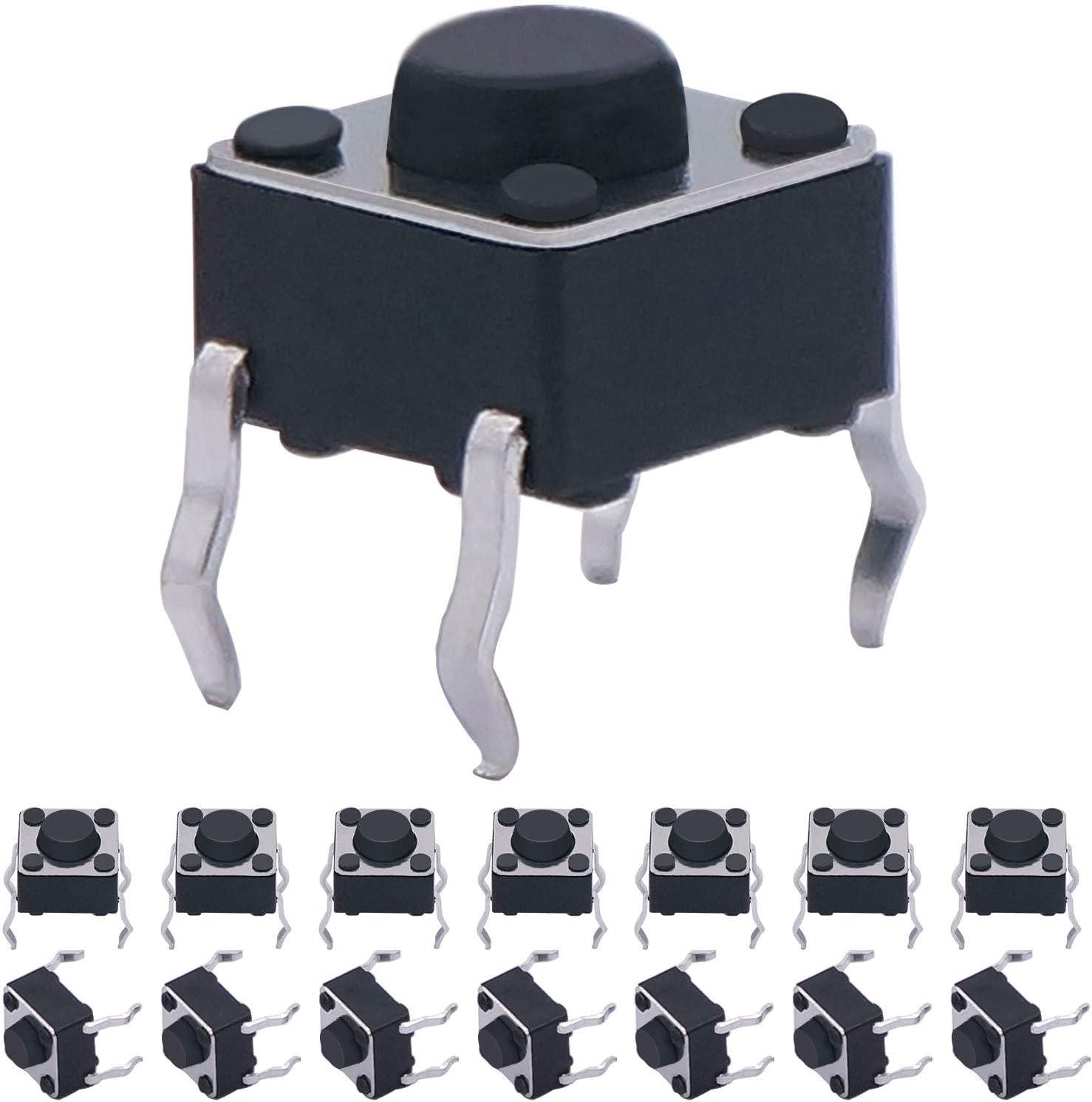 New item Taiss 100 Pcs 6 x 6mm 5mm Push Tactile PCB Momentary NEW Tact Butt