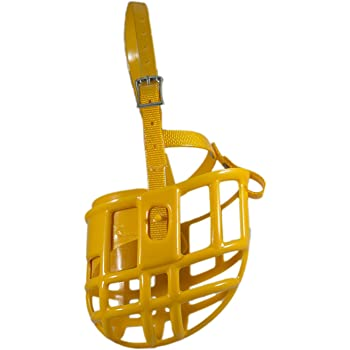 Birdwell Enterprises - Plastic Dog Muzzle with Adjustable Plastic Coated Nylon Headstall - Prevents nipping and Biting - Multiple Sizes and Colors - Made in The USA