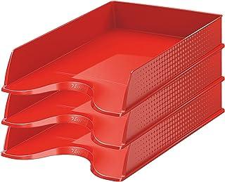 Esselte Fusion 623694 Lot de 10 Corbeilles à courrier Rouge Opaque