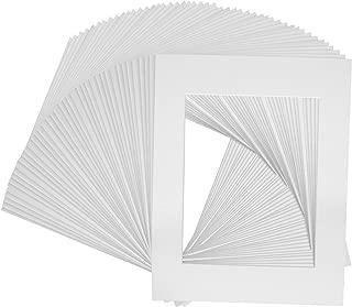 10 of 18x24 White Pre-cut Acid-free whitecore mat for 13x19 + back+bag