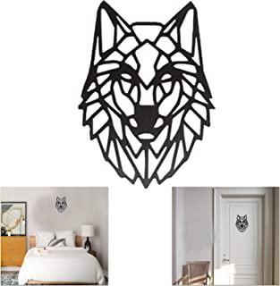 The Metal Artisan Home Decor Wolf Wall Art | Ready to Hang | for Living Room (MS Powder Coated Black Colour | 12 inches) {...