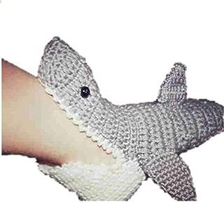 Oaknana 14 cm Toddler Boy Girls Handmade Crochet Shark Socks Size:7/8
