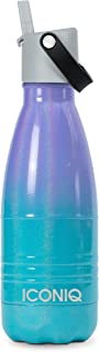 ICONIQ Stainless Steel Vacuum Insulated Water Bottle with Pop Up Straw Cap | 12 Ounce