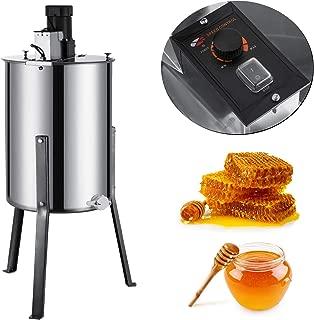 BestEquip Electric Honey Extractor 4 Frame Bee Extractor Stainless Steel Honey Spinner with Stand Beekeeping Equipment
