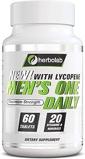 Sponsored Ad - Men's One Daily Multivitamin Herbolab, Max Strength Vitamins A, C, D, E, K, B1, B2, B6, B12, Niacin, Calciu...