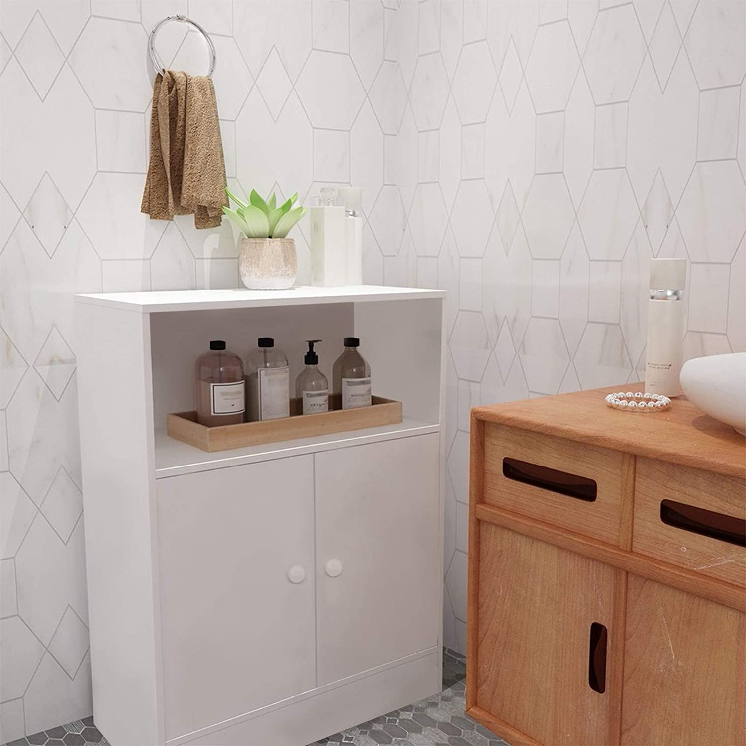 Delarsy Bathroom Storage Floor Cabinet Standing with Direct stock discount Free Two-Do Minneapolis Mall