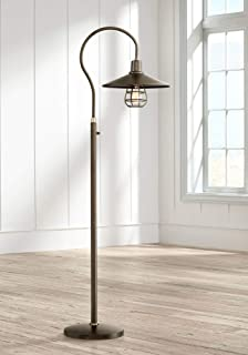 Garryton Industrial Floor Lamp Oiled Rubbed Bronze Metal Cage Barn Light Shade for Living Room Reading Bedroom Office - Franklin Iron Works