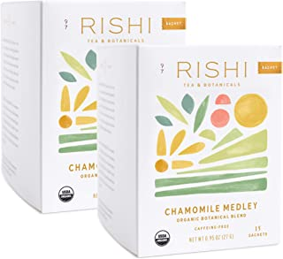 Rishi Tea Chamomile Medley Herbal Tea | Immune Support, USDA Certified Organic, Fair Trade Botanical Blend, Antioxidants, ...