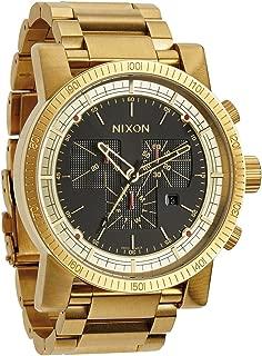 Nixon A457-510 Mens Magnacon SS II All Gold Black Watch