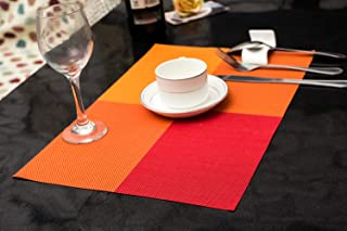 Xugoly Red Placemats, 17.911.9 inch