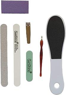 Manicure 7 in 1 Kit Nail Clipper Buffer block Washable Nail File Foot file Dead Skin fork Pedicure