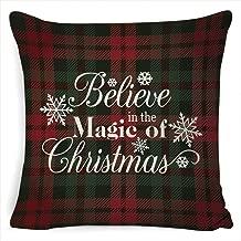 Bluefringe Christmas Linen Pillowcase, Soft Decoration Linen Cushion Cover, Home Deco 45 x 45cm