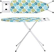 Oumffy X-Pres Ace - Extra Large Foldable Ironing Board with Ironing Table with Iron Stand (Turquoise)