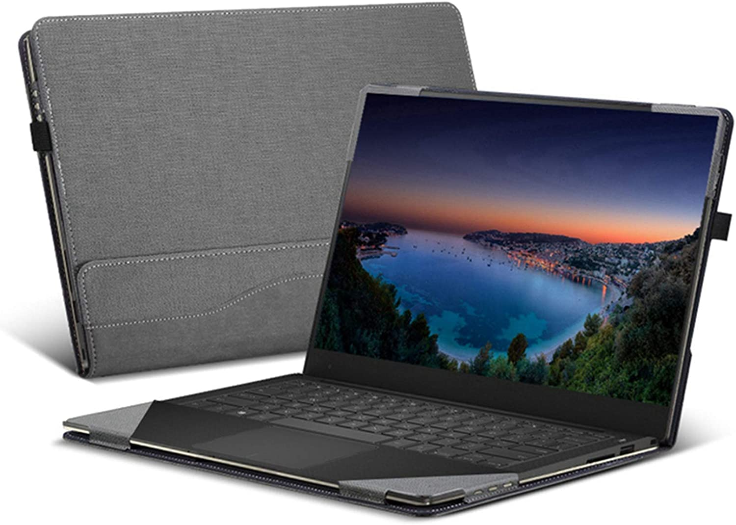 Heycase Compatible with Hp Spectre X360 15.6 inch, PU Leather Folio Stand Hard Shell Compatible for Hp Spectre x360 15t Touch/15-CH011NR/CH012NR/BL000 Series 15