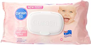 Curash Fragrance Free Baby Wipes 8X80PK