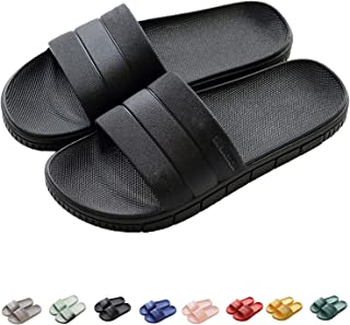 Women's Men's Shower Slide Sandals Lightweight Unisex Bathroom Slippers Non-Slip Beach & Pool Water Shoes