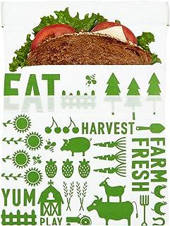 Lunchskins LS1-FARM-GRN Comida reutilizable para sándwich, bolsa de almacenamiento, sándalo, granja verde