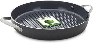 GreenChef CC000381-001 Essentials - Sartén Antiadherente para Utensilios de Cocina, inducción, lavavajillas y Horno, 28 cm, Color Negro