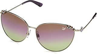 140591c4a7 Swarovski Sonnenbrille SK0026 6216Z Gafas de Sol, Plateado (Silber), 53  para Mujer