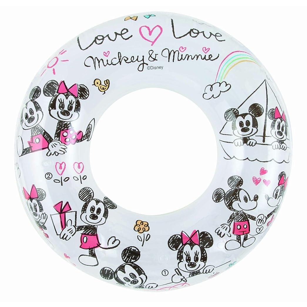 スマート望みまどろみのある【リブライト】ディズニー ミッキー ミニー 浮き輪ラブラブミッキー&ミニー 直径100cm  81496