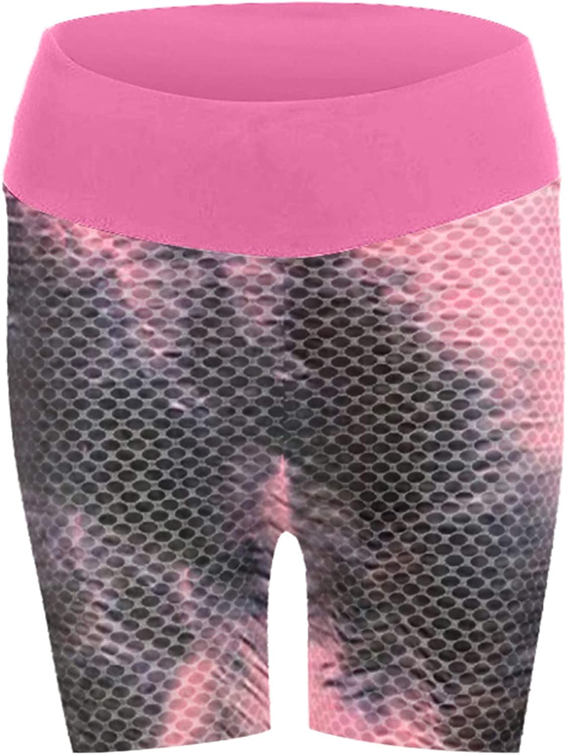 Euone_Clothes Women Yoga Pants, Womens Tie-dye Stretch Yoga Leggings Fitness Running Gym Sports Active Shorts