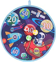 TOYMYTOY Dart Board Game with Sticky Balls Space Party Safety Dart Board Indoor Outdoor Tossing Game Shooting Toy for Stud...