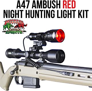 Wicked Lights A47 Red Night Hunting Light Kit With 3-Power Mode LED for coyotes, Predators, Varmint & Hog