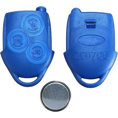 Viviance 3 Knopf Blauer Remote Schlüssel Fob Gehäuse Mit Akku Für Ford Transit Mk7 Auto