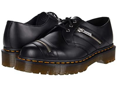 Dr. Martens 1461 Bex Zip (Black Smooth) Shoes