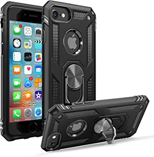Storm-Buy Shockproof Kickstand Phone Case Compatible for [ iPhone 7 | iPhone 8 Case [Shock Absorption] 12ft. Drop Tested Protective Black Cover for iPhone 7/8 (BK-IP 7/8)
