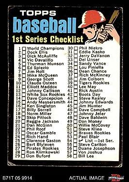1971 Topps Regular (Baseball) card#54 Checklist 1-132 of the - Undefined - Grade Good