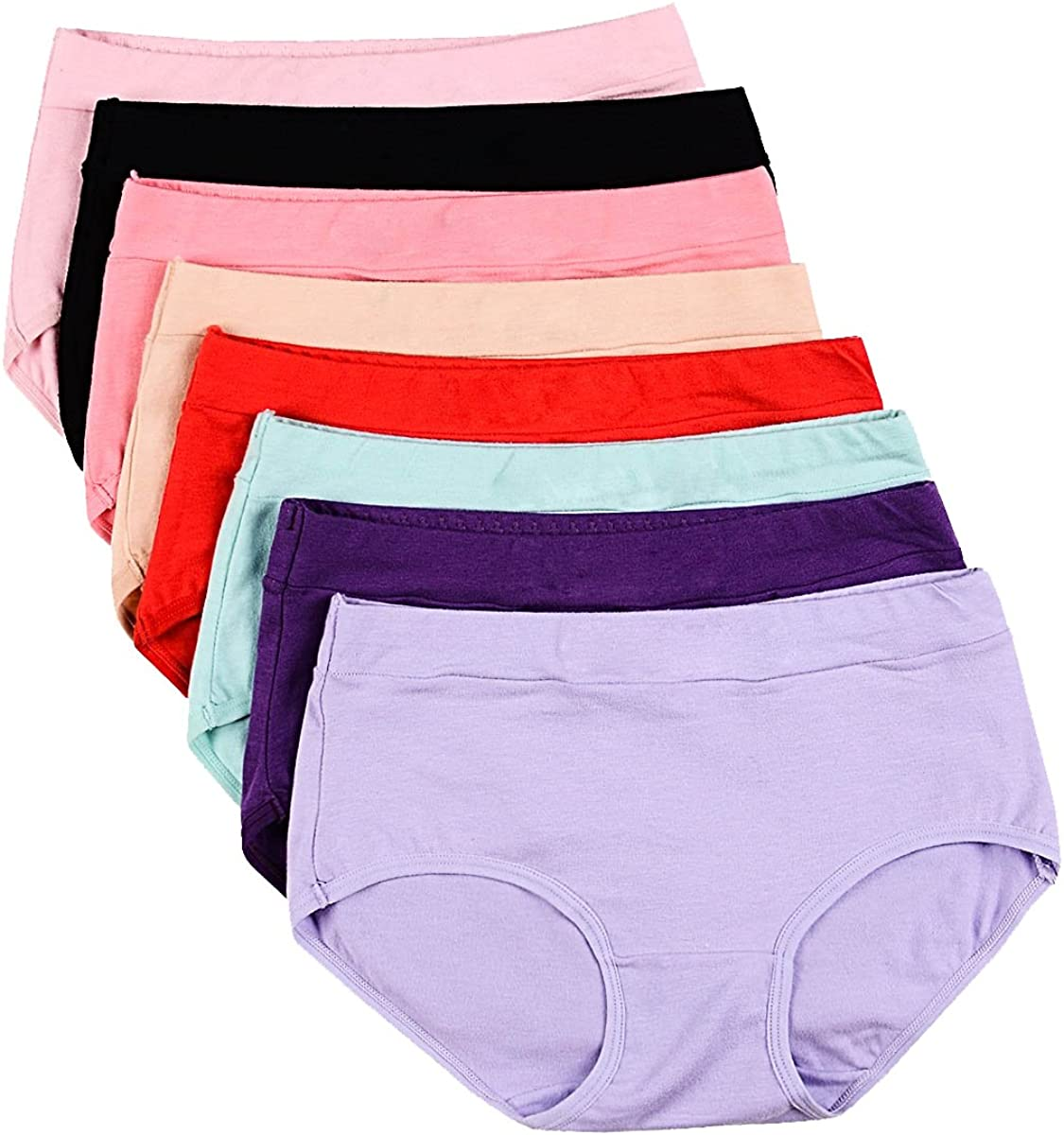Buankoxy Women's Mid-Rise Stretch Color Max 41% OFF Cotton Genuine Free Shipping Assorted Panties