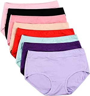 Buankoxy Women's 8 Pack Stretch Cotton Panties, Assorted Colors
