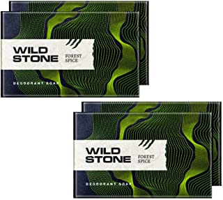 Wild Stone Forest Spice Soap for Men, Pack of 4 (125gm each)