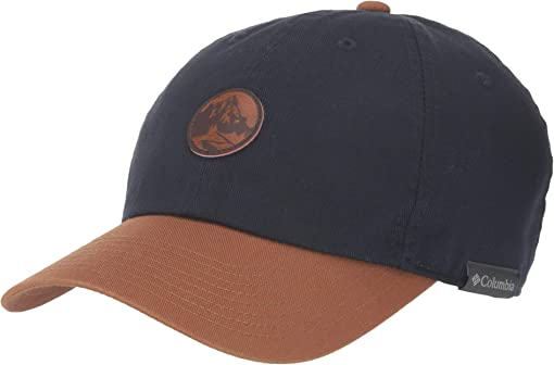 Collegiate Navy/Caramel/Round Patch