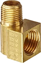 Eaton Weatherhead 402X5 Brass CA360 Inverted Flare Brass Fitting, 90 Degree Elbow, 1/8