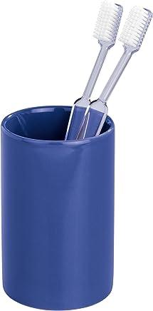 7 x 11 x 7 cm Wenko 24016100-Vaso de Dientes Polaris de cer/ámica Color Gris Mate