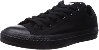 Converse Unisex Chuck Taylor All Star Low Top Black Monochrome Sneakers - 7 B(M) US