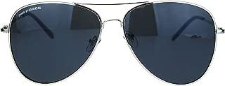 Airforce Mens Oversize Classic Officer Metal Rim Pilot Sunglasses
