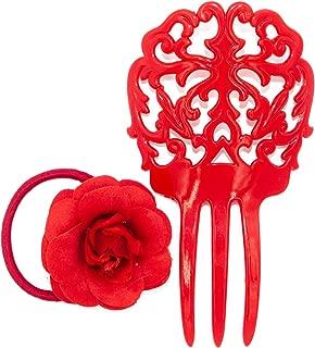 New Spanish Flamenco Hair Comb Rose Peineta Dance Floral Flowers Design Childs