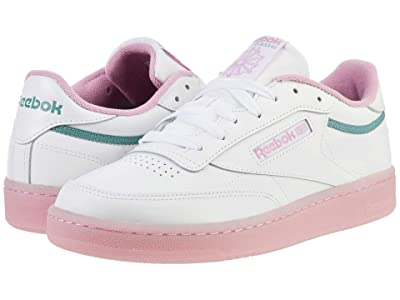 Reebok Lifestyle Club C 85 (White/Green Slate/Jasmine Pink) Women