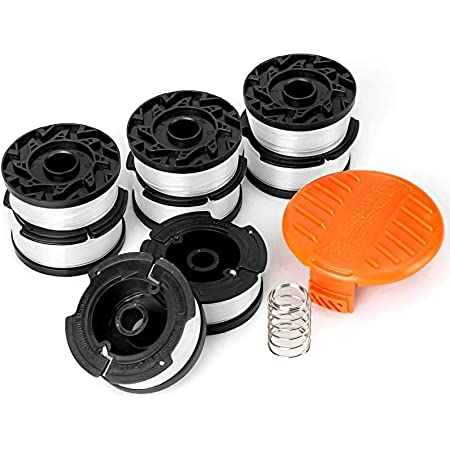 """YWTESCH Line String Trimmer Replacement Spool, 30ft 0.065"""" Autofeed String Trimmer Line Replacement Spool for Black+Decker String Trimmers (8 Replacement Spool,1 Spool Cap,1 Spring)"""
