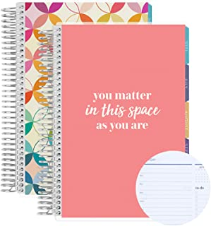 Set of Two A5-6 Month Coiled Daily Life Planner (July 2021 - June 2022) Daily Duo, 12 Months Total Agenda/Planning w You M...
