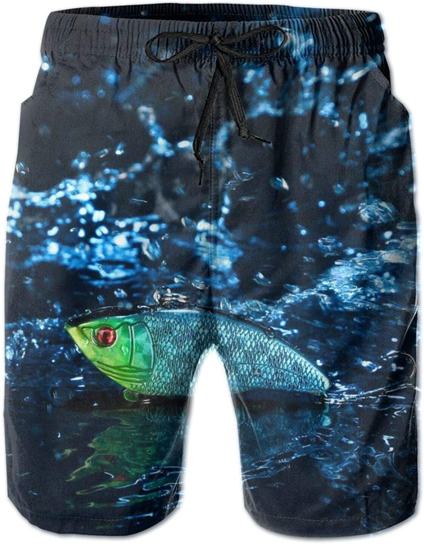 Mens 100% Polyester Strange red Splashes Fish Trunks Swim Eyed Choice New Shipping Free Shipping