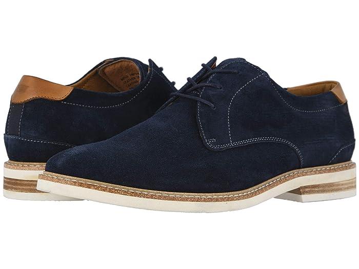 Florsheim  Highland Plain Toe Oxford (Navy Suede/White Sole) Mens Shoes