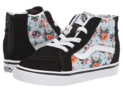 Vans Kids Sk8-Hi Zip (Infant/Toddler) ((Garden Floral) True White) Girls Shoes